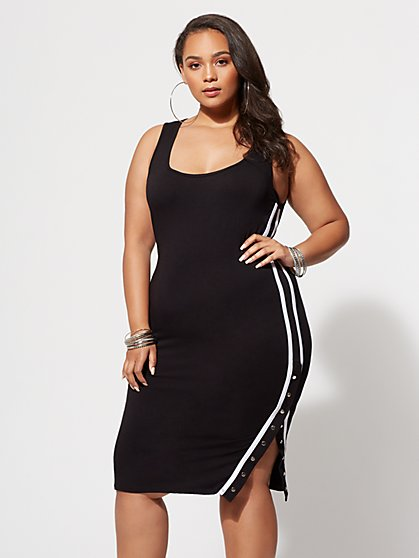 Plus Size Nadia Button-Snap Dress - Fashion To Figure