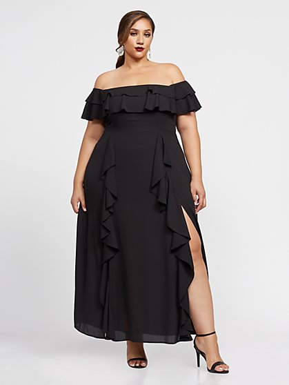 Plus Size Naia Off Shoulder Maxi Dress - Fashion To Figure