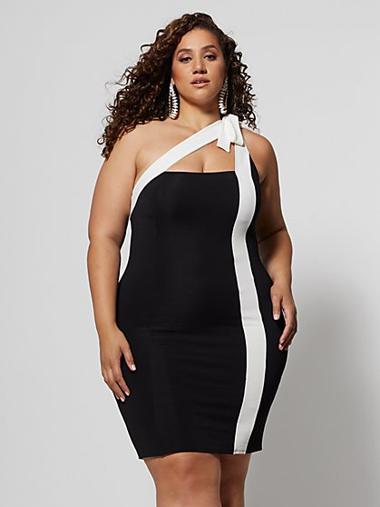 Plus Size Nalani Colorblock Bodycon Dress - Fashion To Figure