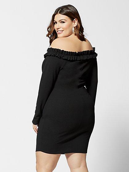55f611ed0128e ... Plus Size Natalia Off Shoulder Bodycon Dress - Fashion To Figure