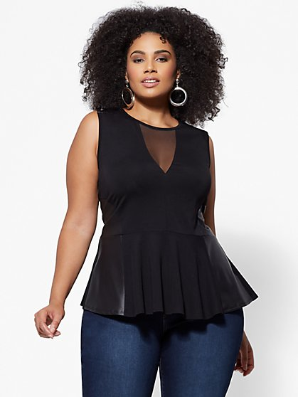 Plus Size Natasha Peplum Top - Fashion To Figure