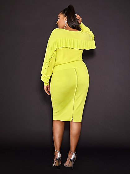 Plus Size Nicky Ruffle Back Sweater - Gabrielle Union x FTF - Fashion To Figure