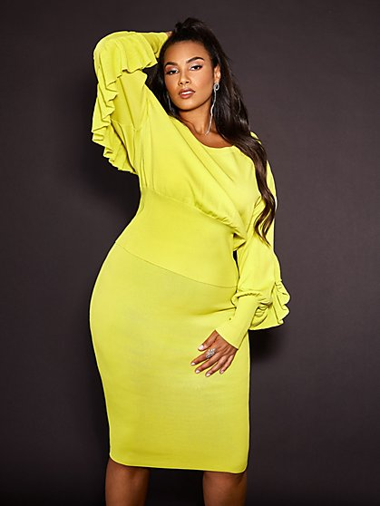 Plus Size Nicky Zipper Back Sweater Pencil Skirt - Gabrielle Union x FTF - Fashion To Figure