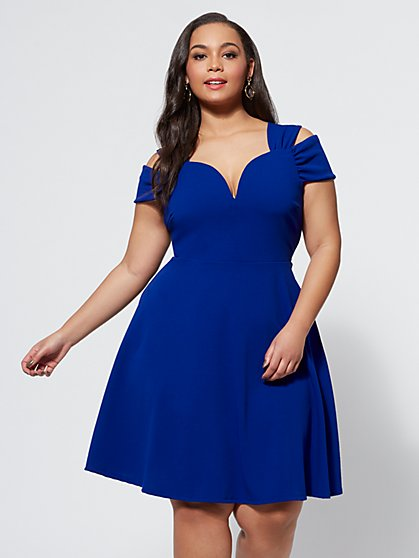 Plus Size Noelle Flare Dress - Fashion To Figure