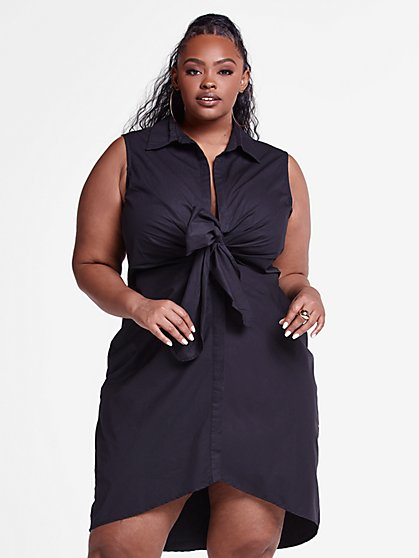 Plus Size Norah Sleeveless Knot Front Dress - Fashion To Figure