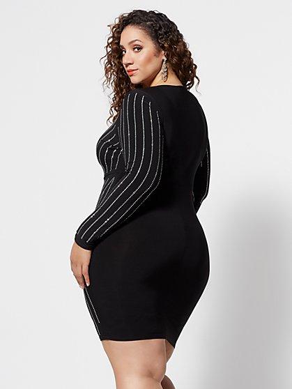75983d45e5276 ... Plus Size Nyasia Studded Bodycon Dress - Fashion To Figure ...
