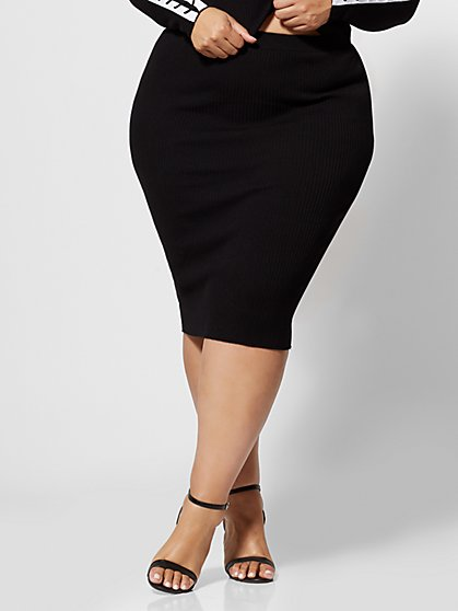 Plus Size Olympia Lace-Up Sweater Skirt - Fashion To Figure