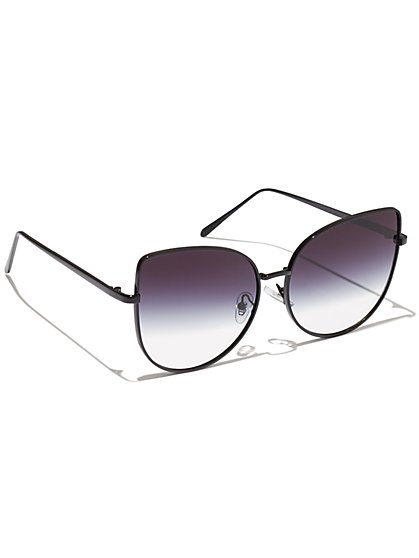 Plus Size Ombre Cat Eye Sunglasses - Fashion To Figure