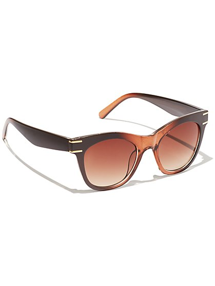 Plus Size Ombre Frame Square Sunglasses - Fashion To Figure