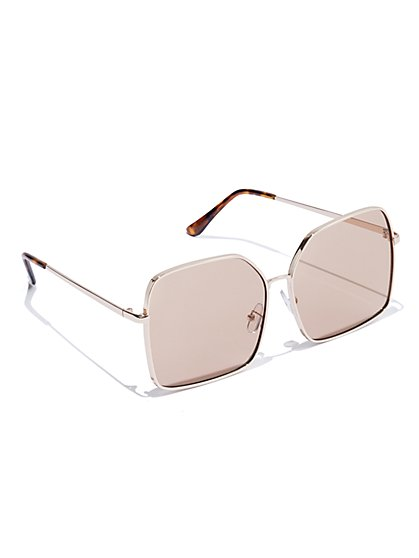 Plus Size On Site - Gold Frame Sunglasses - Fashion To Figure