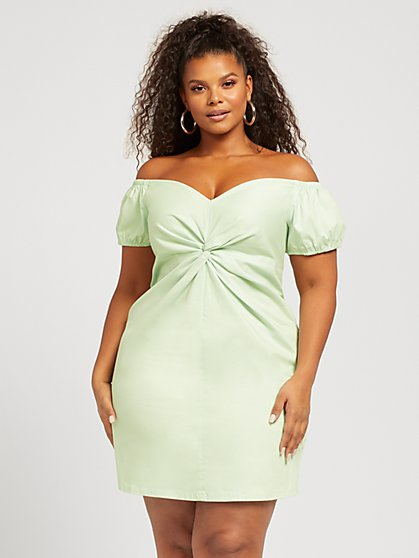 Plus Size Ophelia Knot Front Dress - Fashion To Figure