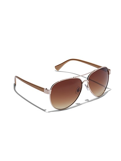 Plus Size Oval Aviator Sunglasses - Fashion To Figure