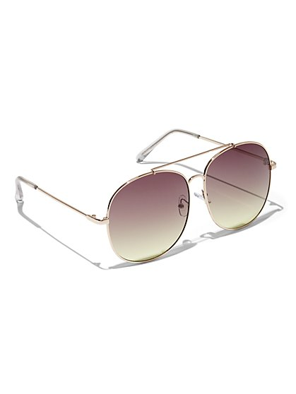 Plus Size Oversized Aviator Sunglasses - Fashion To Figure