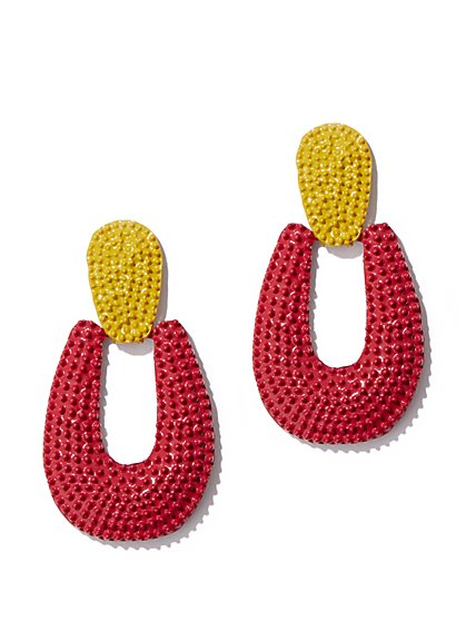 Plus Size Oversized Beaded Drop Earring - Fashion To Figure