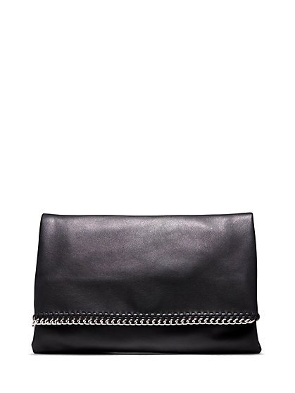 Plus Size Oversized Chain Detail Clutch - Fashion To Figure
