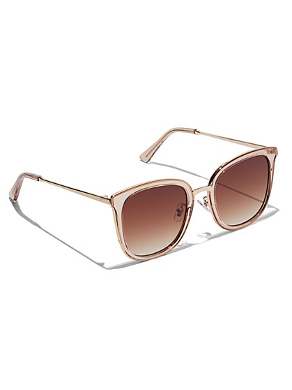 Plus Size Oversized Clear Sunglasses - Fashion To Figure