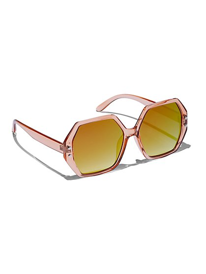 Plus Size Oversized Hexagonal Sunglasses - Fashion To Figure
