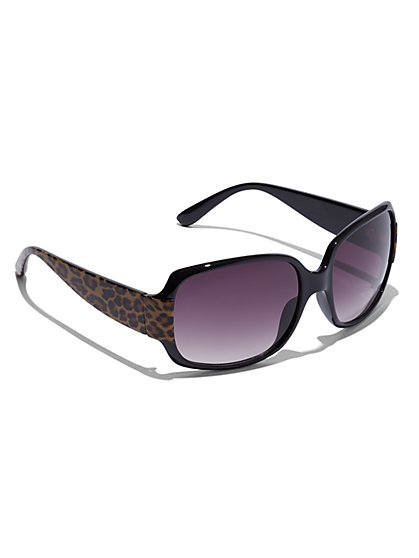 Plus Size Oversized Leopard Sunglasses - Fashion To Figure