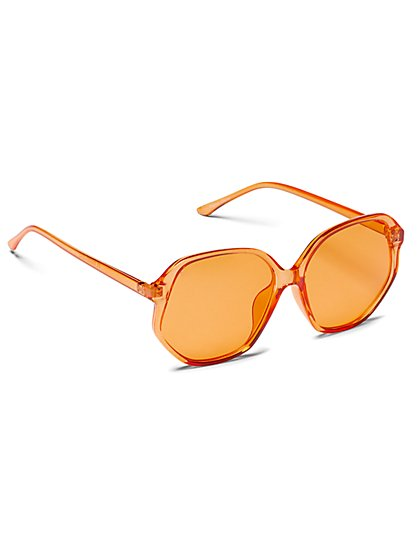 Plus Size Oversized Orange Sunglasses - Fashion To Figure