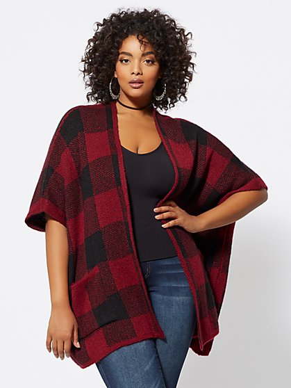 Plus Size Pacey Open-Front Poncho - Fashion To Figure