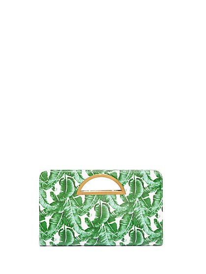 Plus Size Palm Print Purse - Fashion To Figure