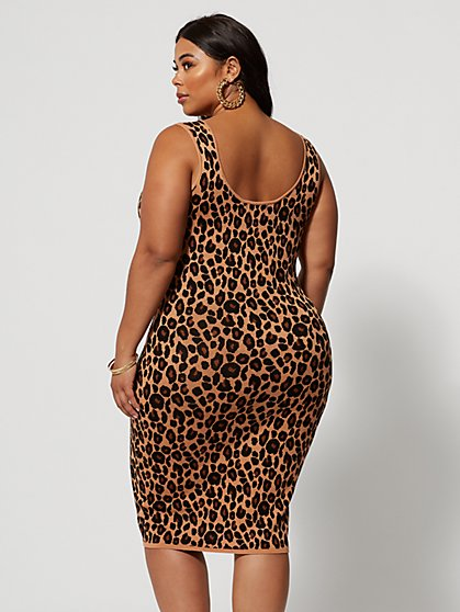 d6e153e43c6 ... Plus Size Paloma Animal Print Sweater Dress - Fashion To Figure ...