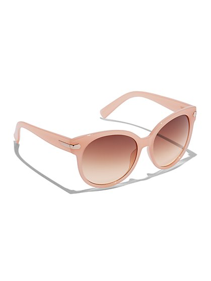 Plus Size Peach Oval Sunglasses - Fashion To Figure