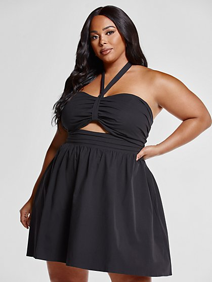 Plus Size Phoebe Halter Dress - Fashion To Figure