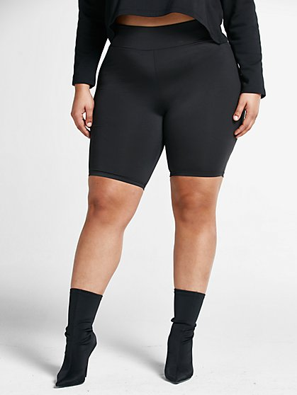 Plus Size Pia Yoga Bike Shorts - Fashion To Figure