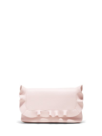 Plus Size Pink Ruffle Clutch - Fashion To Figure