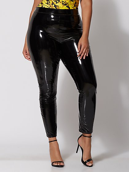 Plus Size Pixie Vinyl Leggings - Fashion To Figure