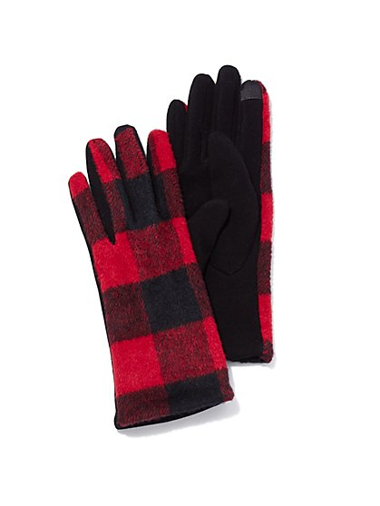 Plus Size Plaid Gloves - Fashion To Figure