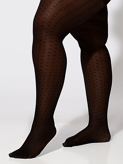 Plus Size Polka Dot Tights - Fashion To Figure