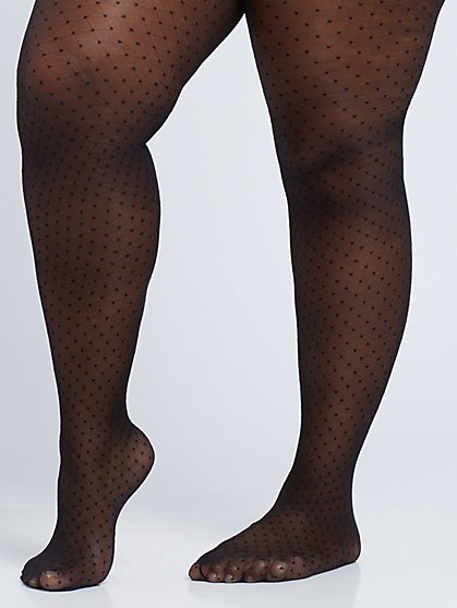 Plus Size Polka-Dot Tights - Fashion To Figure