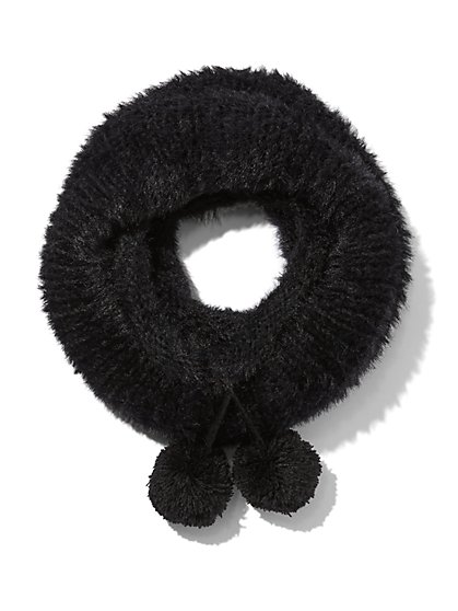 Plus Size Pom-Pom Infinity Scarf - Fashion To Figure
