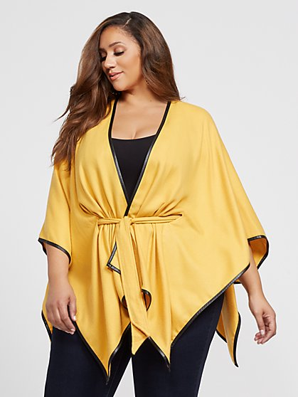 Plus Size Queenie Belted Ruana - Fashion To Figure