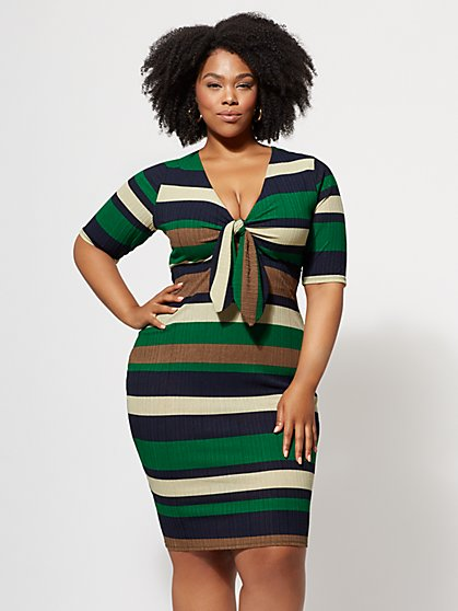 Plus Size Rachel Tie-Front Dress - Fashion To Figure