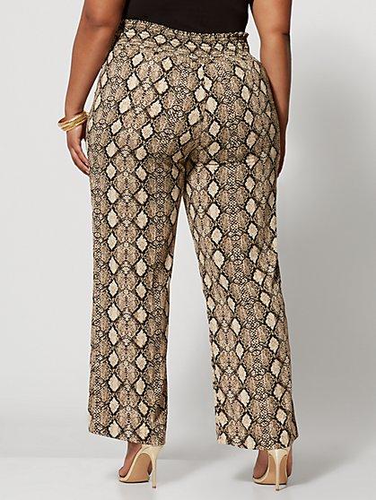 cfe53c5cbe14 ... Plus Size Rachelle Snake Print Wide Leg Pants - Fashion To Figure ...