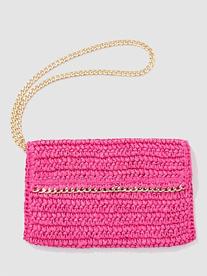 Plus Size Raffia Crossbody Bag - Fashion To Figure
