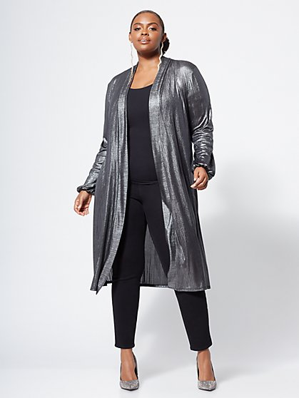 Plus Size Raimy Silver Duster - Fashion To Figure