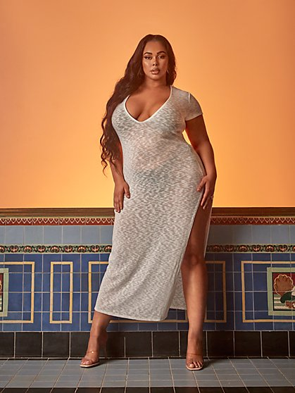 Plus Size Rasheeda Cover-Up - Tabria Majors x FTF - Fashion To Figure