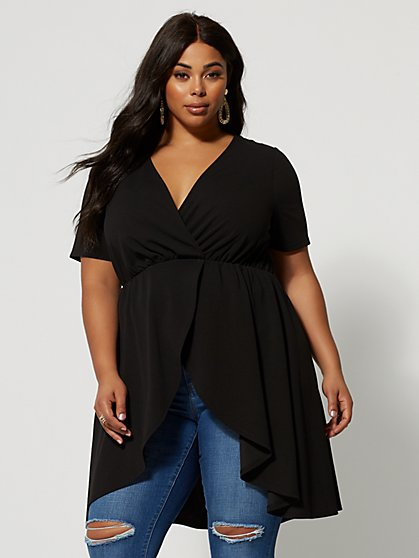 Plus Size Renata Hi-Lo Top - Fashion To Figure