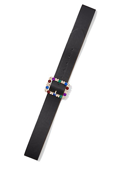 Plus Size Rhinestone Square Buckle Belt - Fashion To Figure