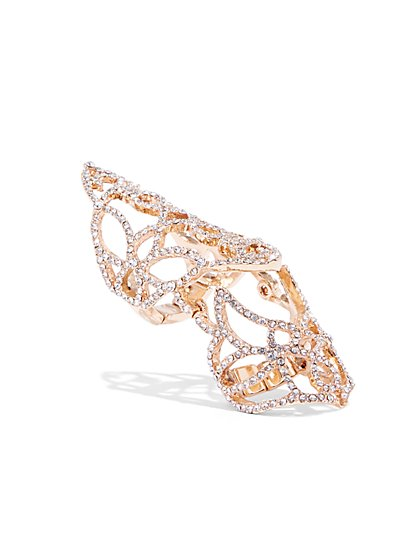 Plus Size Rhinestone Statement Ring - Fashion To Figure
