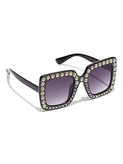 Plus Size Rhinestone Sunglasses - Fashion To Figure