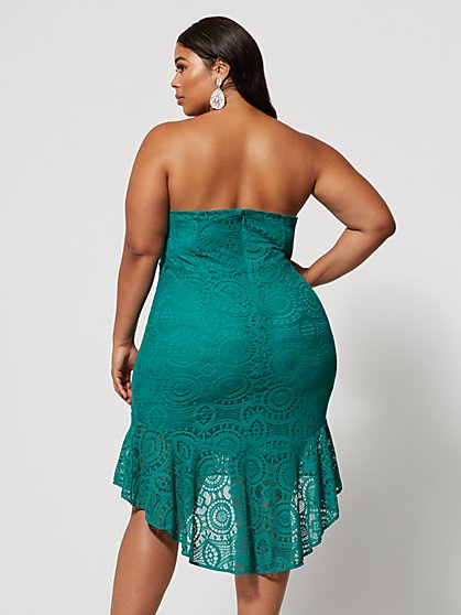 aa843978e ... Plus Size Rina Strapless Lace Dress - Fashion To Figure ...