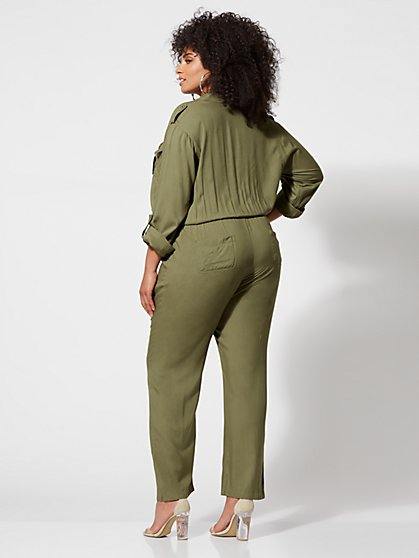 75bc96355222 ... Plus Size Robyn Military Jumpsuit - Fashion To Figure