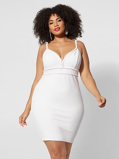 Plus Size Rochelle Rhinestone-Trim Dress - Fashion To Figure