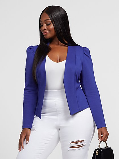 Plus Size Rory Puff Sleeve Blazer - Fashion To Figure