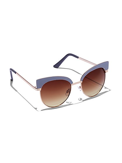 Plus Size Round Cat Eye Sunglasses - Fashion To Figure